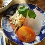 食堂ことぶき - 蒸しモヤシと豆苗のサラダ