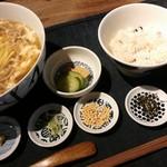 78822172 - 黄ニラの卵とじのおそばセット【2017.12】