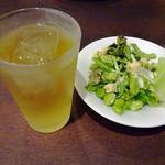 鎌倉パスタ - りんご酢アップル & サラダ