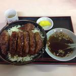 田村食堂 - ソースかつ丼¥1,100+大盛り\200