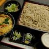 """そば処 満留賀 - 料理写真:""""ミニ玉子丼セット/冷たいお蕎麦"""""""