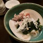 五明 ごみょ - 大蛤と赤ハタのアラのお椀