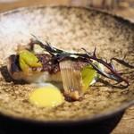 デュ バリー - 真鱈のポワレと下仁田葱のフォンデュ 仄かな焼きミカンの薫り