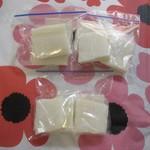 吉祥寺虎屋 - のし餅はカットして、半分は、冷凍保存
