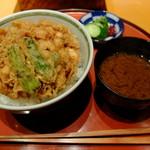 """天ぷら魚新 - """"かき揚げ天丼"""""""