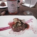 創作料理とワインのお店 上田 慎一郎 - 肉料理とロゼボトル