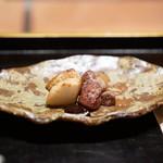 高台寺 和久傳 - 海老芋と猪の囲炉裏焼き