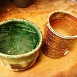 旬鮮味処 かつら - 摩無志(ロック)&赤鹿毛(お湯割)