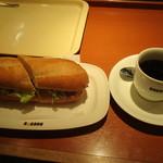ドトールコーヒーショップ - 料理写真:ミラノサンドセット