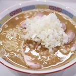 煮干鰮豚骨らーめん 嘉饌 - 料理写真:素ラーメン(非売品) +肉¥250・玉ネギ¥50