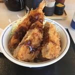 かつや - 料理写真:エビ ヒレカツ メンチ ソース丼