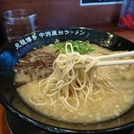 ラーメン一竜 - 細ストレート麺