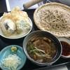 そば善 - 料理写真:鴨もりそば(常陸秋そば二八)+野菜天