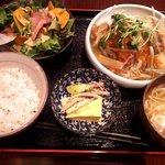 三代目くぼた - お魚定食(鯖の唐揚げ 野菜あんかけ)