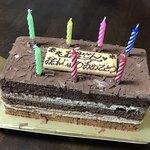 パティスリーチェルモ - 料理写真:チョコボックス1296円(税込)+メッセージボード30円(税込)
