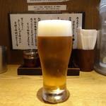 麺や 六三六 - モルツ生(360円)