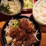 京まる - 若牛鬼ヒレステーキの鉄板焼 ランチ。
