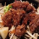 京まる - 若牛鬼ヒレステーキの鉄板焼。