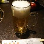 炭火焼肉 東京苑 - ジョッキ生ビール 626円