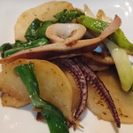 ほなな - イカと野菜の炒めもの