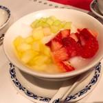 ホテルオークラ レストラン横浜 中国料理 桃源 - フルーツ入り杏仁豆腐