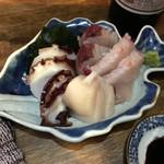 地酒と季節料理 おかやん - 刺身3点盛り700円
