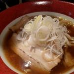 みそ吟 - 旭川(醤油)ラーメン (半麺)