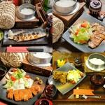 銀シャリ.カフェ - 銀シャリディナーセットお肉お魚