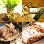 銀シャリ.カフェ - 竹皮おにぎり弁当