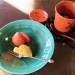 国登録文化財 二木屋 - 水菓子 アイベリー、デコポン。甘味 白玉おしるこ