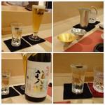 鮨 そえ島 - ◆「大吟醸・箱入り娘」が「振る舞い酒」で出されます。高級酒を振る舞われるとは、いつもながらキップのいいこと。