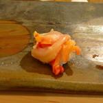 鮨 そえ島 - 赤貝、ひもとともに頂きます
