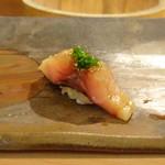 鮨 そえ島 - ◆鯵・・厚く切ってありますので、美味しいこと。