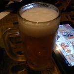 笑笑 - 生ビール大ジョッキ