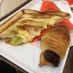 Sammarukukafe - ぷりぷりエビと卵サラダのトーストサンド+チョコクロ