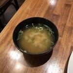 ダル食堂 - カレーと一緒に出てきた味噌汁♪