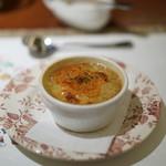 南蛮 銀圓亭 - オニオングラタンスープ
