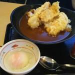 さん天 - 鶏天カレー+温玉(600+100円)