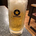 西安餃子房 - 生ビール(500円)