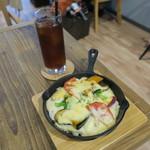 wood good brothers - たっぷり野菜のドリア&水出しのアイスコーヒー