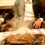 イタリーノ - イタリーノ@福富町 ハンバーグとチキンのミックスグリル