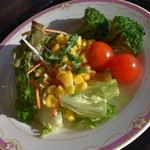 リュクス・ニャーヴェトナム - 朝食ビュッフェ(1,300円)の『サラダ』2017年12月