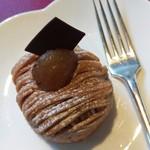 ホテルオークラ ガーデンテラス - ケーキセットのモンブラン