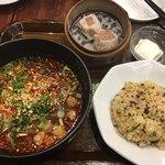 万豚記 - 担々麺セットの紅麻辣担々麺1,480円+税