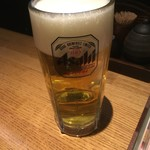 地鶏の鶏膳 - ドリンク写真:生ビール中500円
