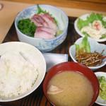浅間 - ぶり刺し定食 ¥980