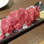 竹串 - 霜降り馬刺(ハーフ)¥500