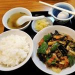 光陽楼 - 茄子の辛子炒め定食