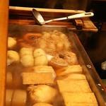 〆清 - ほどよく煮えた飯田おでんの具たち