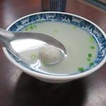 再發號 - 魚のつみれスープ30元